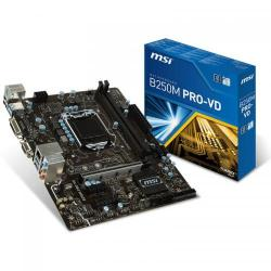 Placa de baza MSI B250M PRO-VD, Intel B250, Socket 1151, mATX