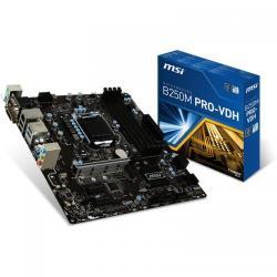 Placa de baza MSI B250M PRO-VDH, Intel B250, Socket 1151, mATX