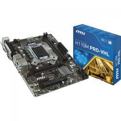 Placa de baza MSI H110M PRO-VHL, Intel H110, Socket 1151, mATX