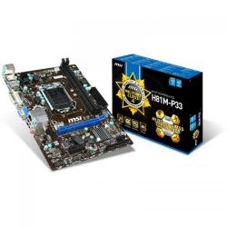 Placa de baza MSI H81M-P33, Intel H81, socket 1150, mATX