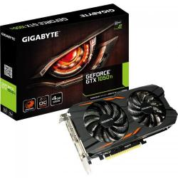 Placa video Gigabyte nVidia GeForce GTX 1050 Ti Windforce OC 4GB, DDR5, 128bit