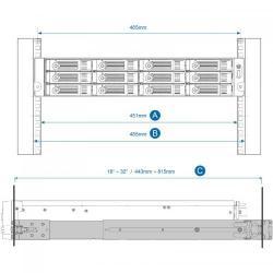 Rail Kit NAS Qnap RAIL-B02