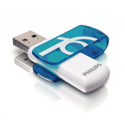 Stick Memorie Philips Vivid Edition, 16GB, USB 2.0, White-Blue