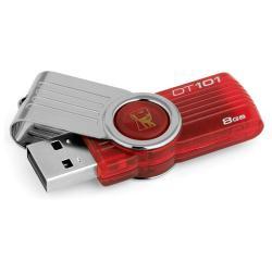 Stick memorie USB Kingston 8G DT101G2 8GB USB2.0 DATATRAVELER 101 G2, Rosu