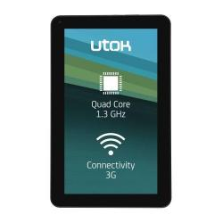 Tableta UTOK Hello 10Q, Mediatek MTK8382 Quad Core, 10.1inch, 8 GB, Wi-Fi, BT, 3G, Android 4.4, Black