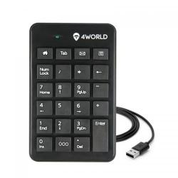 Tastatura numerica 4World Super Slim 10337, USB, Black