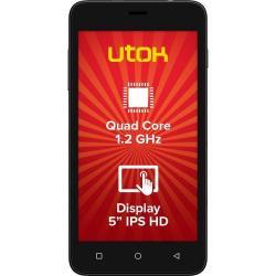 Telefon mobil UTOK Q55B Dual SIM, 8GB, 3G, Black + Husa Silicon Inclusa