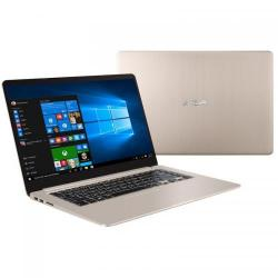 Ultrabook Asus VivoBook S15 S510UA-BQ287, Intel Core i5-7200U, 15.6inch, RAM 4GB, HDD 1TB, Intel HD Graphics 620, Endless OS, Gold Metal