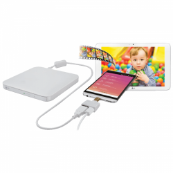 Unitate optica externa LG GP95EW70 DVD-RW, USB 2.0, White