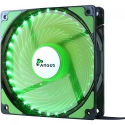 Ventilator Inter-Tech Argus L-12025 Green LED, 120mm