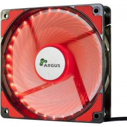 Ventilator Inter-Tech Argus L-12025 Red LED, 120mm