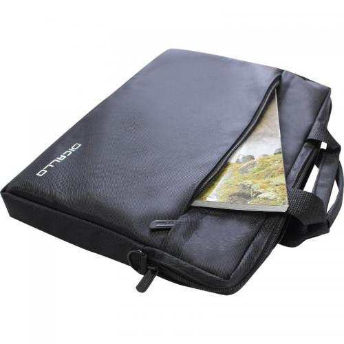 Geanta Dicallo LLM0314 pentru laptop de 15.6inch, Black