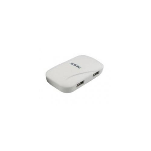 Hub USB SSK SHU037, 4x USB 2.0, White