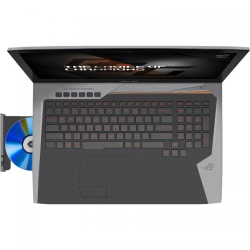 Laptop ASUS ROG G752VS(KBL)-BA279T, Intel Core i7-7700HQ, 17.3inch, RAM 32GB, HDD 1TB + SSD 256GB, nVidia GeForce GTX 1070 8GB, Windows 10, Grey