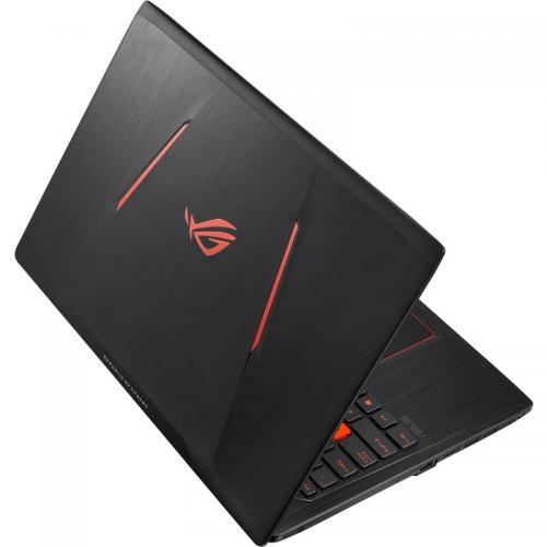 Laptop Asus ROG GL553VD-FY009, Intel Core i7-7700HQ, 15.6inch, RAM 8GB, HDD 1TB, nVidia GeForce GTX 1050 4GB, Endless OS, Black metal