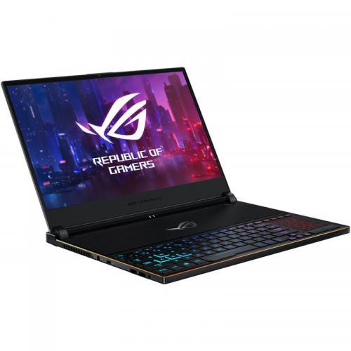 Laptop ASUS ROG Zephyrus S GX531GX-ES002R, Intel Core i7-8750H, 15.6inch, RAM 16GB, SSD 512GB, nVidia GeForce RTX 2080 8GB, Windows 10 Pro, Black