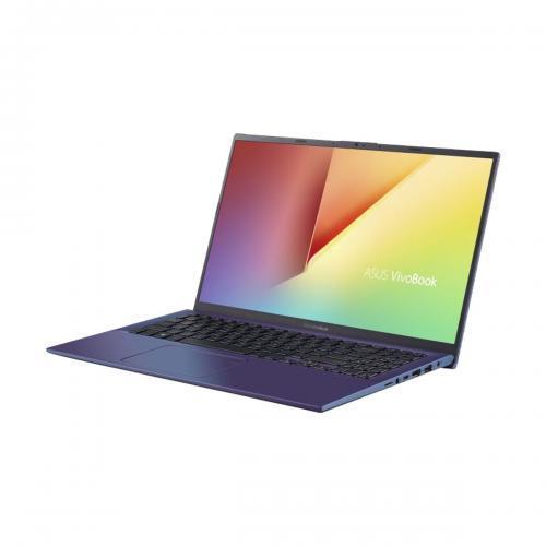 Laptop Asus VivoBook 15 X512FA-EJ1141, Intel Core i3-8145U, 15.6inch, RAM 8GB, SSD 256GB, Intel UHD Graphics 620, No OS, Peacock Blue