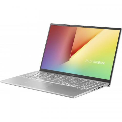Laptop Asus VivoBook 15 X512FJ-EJ326, Intel Core i5-8265U, 15.6inch, RAM 8GB, SSD 512GB, nVidia GeForce MX230 2GB, No OS, Transparent Silver