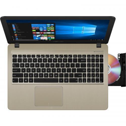 Laptop ASUS VivoBook 15 X540UB-DM1150, Intel Core i3-7020U, 15.6inch, RAM 4GB, HDD 1TB, nVidia GeForce MX110 2GB, Endless OS, Chocolate Black