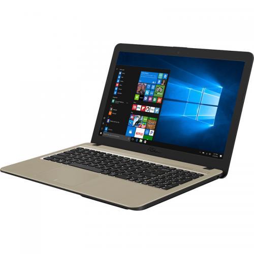 Laptop ASUS VivoBook 15 X540UB-DM547, Intel Core i3-7020U, 15.6inch, RAM 4GB, HDD 1TB, nVidia GeForce MX110 2GB, Endless OS, Chocolate Black