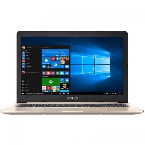 Laptop Asus VivoBook Pro 15 N580VD-DM153, Intel Core i7-7700HQ, 15.6inch, RAM 8GB, HDD 1TB, nVidia GeForce GTX 1050 4GB, Endless OS, Gold