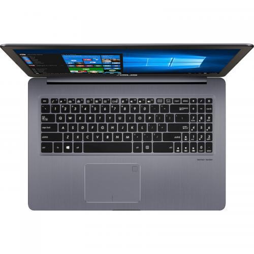 Laptop Asus VivoBook Pro 15 N580VD-FY680, Intel Core i7-7700HQ, 15.6inch, RAM 8GB, SSD 256GB, nVidia GeForce GTX 1050 4GB, Endless OS, Grey