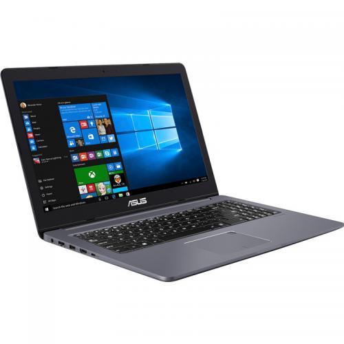 Laptop ASUS VivoBook Pro 15 N580VD-FZ684T, Intel Core i7-7700HQ, 15.6inch Touch, RAM 8GB, HDD 500GB + SSD 128GB, nVidia GeForce GTX 1050 4GB, Windows 10, Grey