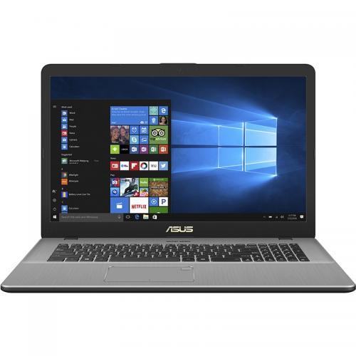 Laptop Asus VivoBook Pro 17 N705UD-GC049, Intel Core i5-7200U, 17.3inch, RAM 8GB, HDD 1TB + SSD 128GB, nVidia GeForce GTX 1050 4GB, Endless OS, Grey