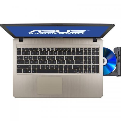 Laptop ASUS VivoBook X540YA-XX017D, AMD E1-7010, 15.6inch, RAM 4GB, HDD 500GB, AMD Radeon R2, Free Dos, Chocolate Black