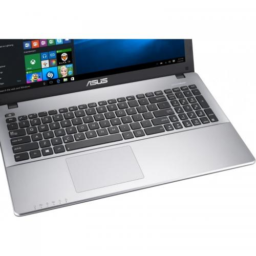 Laptop ASUS X550VX-GO636D, Intel Core i5-7300HQ, 15.6inch, RAM 4GB, HDD 1TB, nVidia GeForce GTX 950M 2GB, Free Dos, Black-Silver