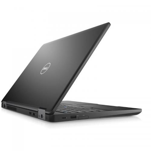 Laptop DELL Latitude 5580, Intel Core i5-7440HQ, 15.6inch, RAM 8GB, SSD 256GB, Intel HD Graphics 630, Linux, Black