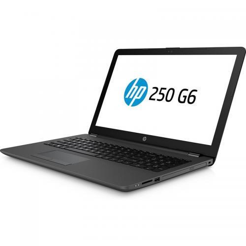 Laptop HP 250 G6, Intel Core i3-7020U, 15.6inch, RAM 4GB, HDD 500GB, AMD Radeon 520 2GB, Free Dos, Dark Ash Silver
