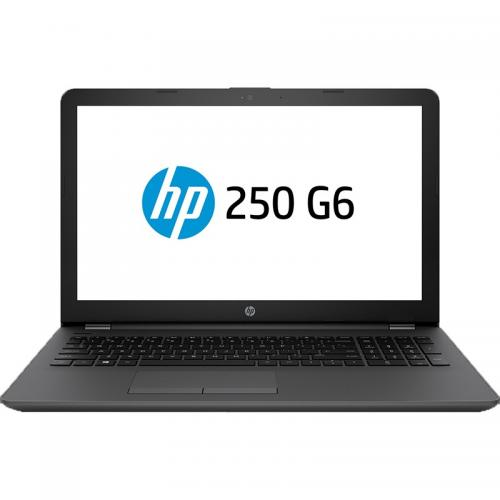 Laptop HP 250 G6, Intel Core i3-7020U, 15.6inch, RAM 4GB, SSD 128GB, Intel HD Graphics 620, FreeDos, Dark Ash Silver