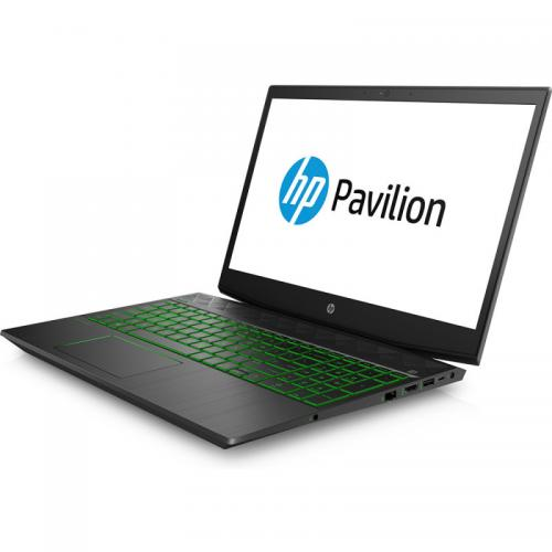 Laptop HP Pavilion 15-cx0002nq, Intel Core i7-8750H, RAM 8GB, SSD 256GB, nVidia GeForce GTX 1050 Ti 4GB, Free Dos, Shadow Black