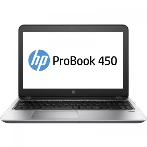 Laptop HP ProBook 450 G4, Intel Core i3-7100U, 15.6inch, RAM 4GB, HDD 500GB, Intel HD Graphics 620, Windows 10 Pro, Silver