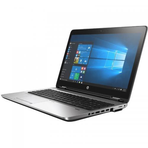 Laptop HP ProBook 650 G3, Intel Core i3-7100U, 15.6inch, RAM 4GB, HDD 500GB, Intel HD Graphics 620, Windows 10 Pro, Black-Silver
