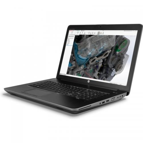 Laptop HP ZBook 17 G4, Intel Core i7-7700HQ 17.3inch, RAM 8GB, SSD 256GB, nVidia Quadro M2200 4GB, Windows 10 Pro, Black