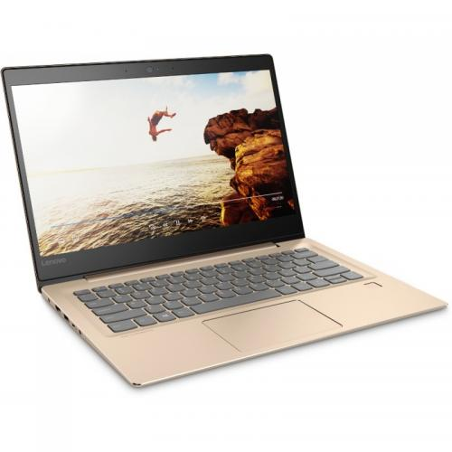 Laptop Lenovo IdeaPad 520S-14IKB, Intel Core i3-7100U, 14inch, RAM 4GB, HDD 1TB, Intel HD Graphics 620, Windows 10, Champagne Gold