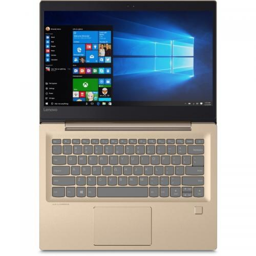 Laptop Lenovo IdeaPad 520S-14IKB, Intel Core i5-7200U, 14inch, RAM 4GB, HDD 1TB, Intel HD Graphics 620, Free Dos, Champagne Gold