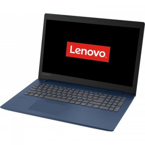 Laptop Lenovo IdeaPad IP330-15IKBR, Intel Core i5-8250U, 15.6inch, RAM 8GB, SSD 256GB, Intel UHD Graphics 620, FreeDos, Mid Night Blue