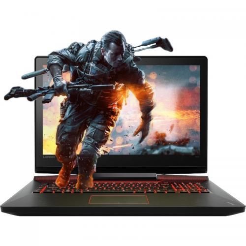 Laptop Lenovo IdeaPad Y910, Intel Core i7-6700HQ, 17.3inch, RAM 16GB, HDD 1TB + SSD 512GB, nVidia GeForce GTX 1070M 8GB, Windows 10, Black