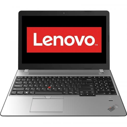 Laptop Lenovo ThinkPad E570, Intel Core i5-7200U, 15.6inch, RAM 8GB, SSD 256GB, Intel HD Graphics 620, Windows 10 Pro, Silver-Black