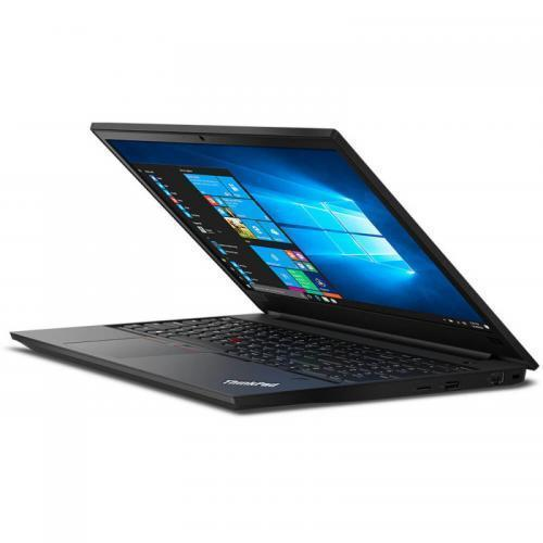 Laptop Lenovo ThinkPad E590, Intel Core i5-8265U, 15.6inch, RAM 8GB, HDD 1TB + SSD 128GB, AMD Radeon RX 550X 2GB, Free DOS, Black