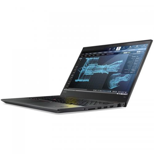 Laptop Lenovo ThinkPad P51s, Intel Core i7-7600U, 15.6inch, RAM 16GB, SSD 512GB, nVidia Quadro M520 2GB, Windows 10 Pro, Black