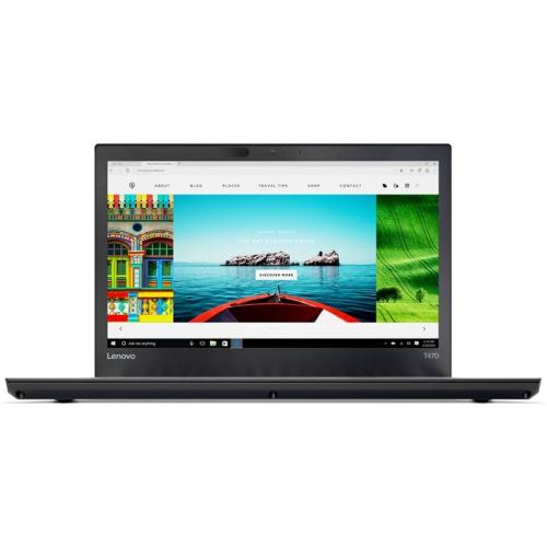 Laptop Lenovo ThinkPad T470, Intel Core i7-7500U, 14inch, RAM 8GB, SSD 256GB, Intel HD Graphics 620, Windows 10 Pro, Black