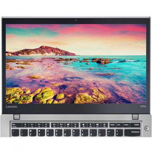 Laptop Lenovo ThinkPad T470s, Intel Core i5-7200U, 14inch, RAM 8GB, SSD 256GB, Intel HD Graphics 620, 4G, Windows 10 Pro, Silver