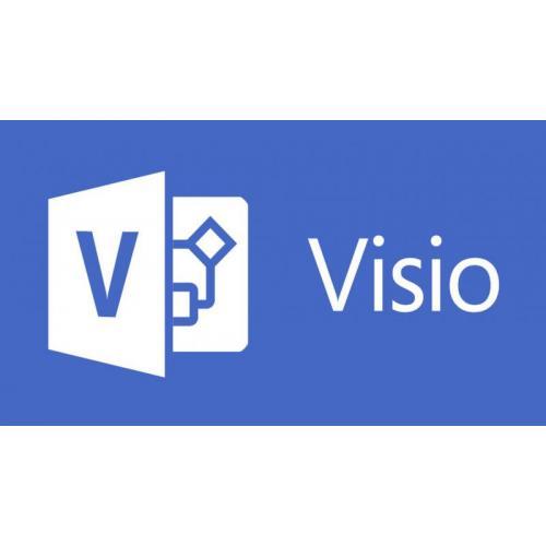 Microsoft Visio Standard 2016, English, Medialess FPP