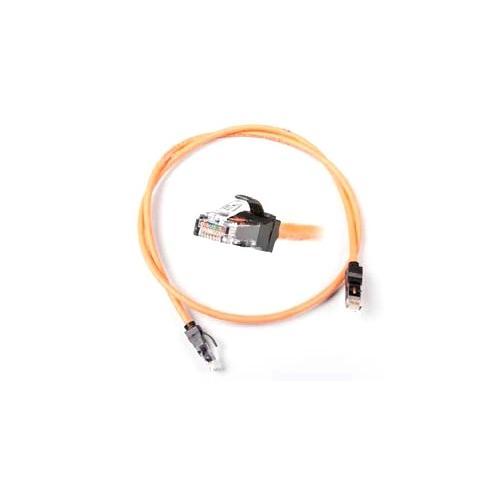 Patch Cord Nexans N11G.P1B010OK, Cat 6, Ecranat, 1m, Orange