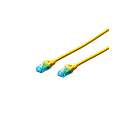 Patchcord Digitus Premium, U/UTP, CAT5e, 2m, Yellow