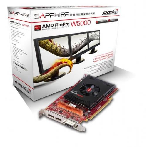 Placa Video Profesioala Sapphire AMD FirePro W5000 2GB, GDDR5, 256bit